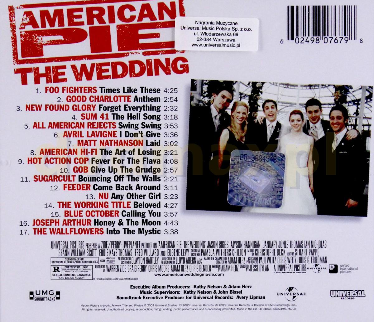 american pie jetzt wird geheiratet soundtrack
