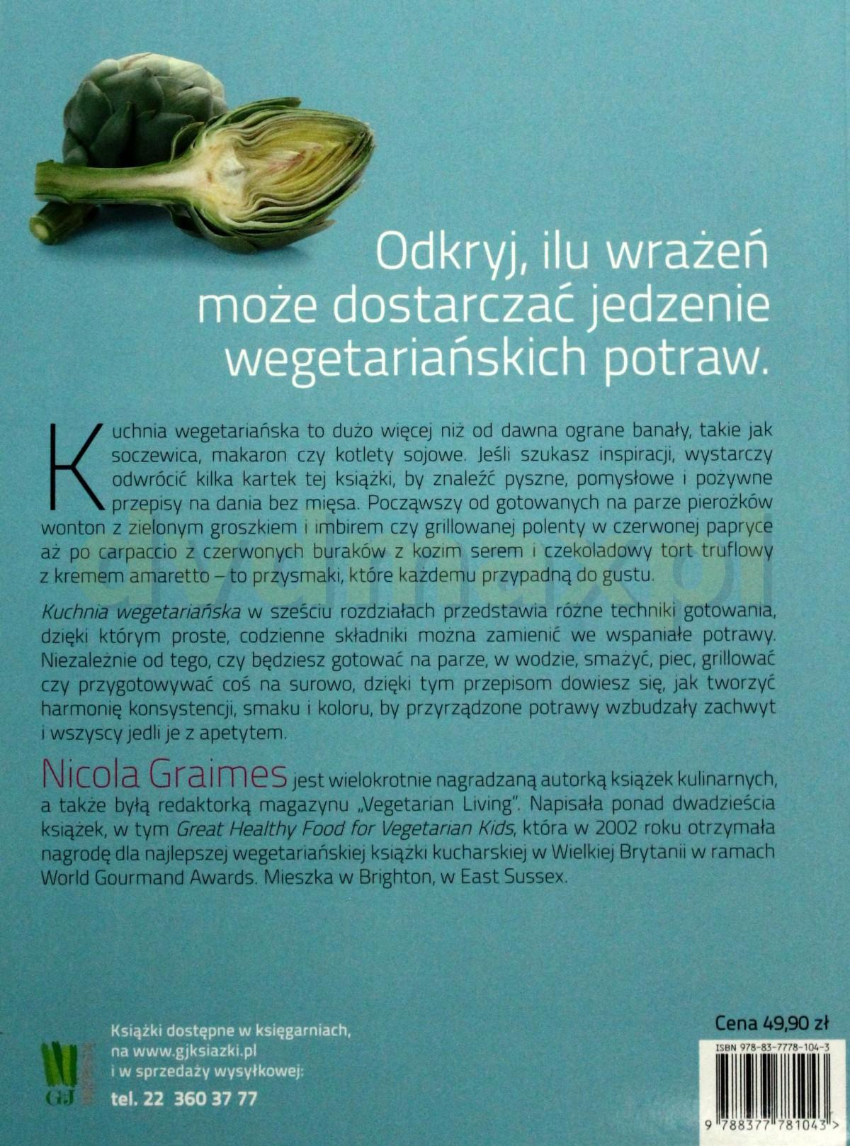 Sklep Punkt44 Pl Kuchnia Wegetarianska Nicola Graimes Ksiazka