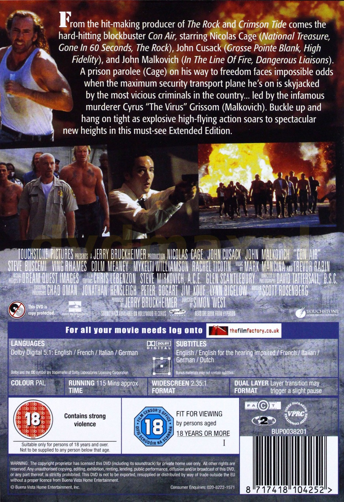 con air full movie with english subtitles