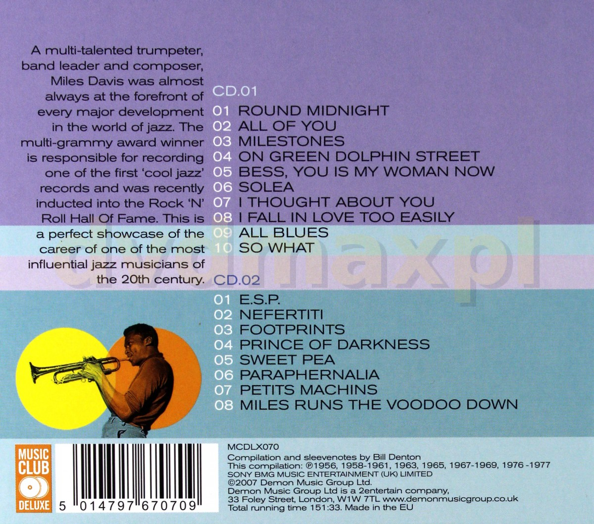 Sklep Punkt44 pl | Miles Davis: Cool The Best Of [2CD]