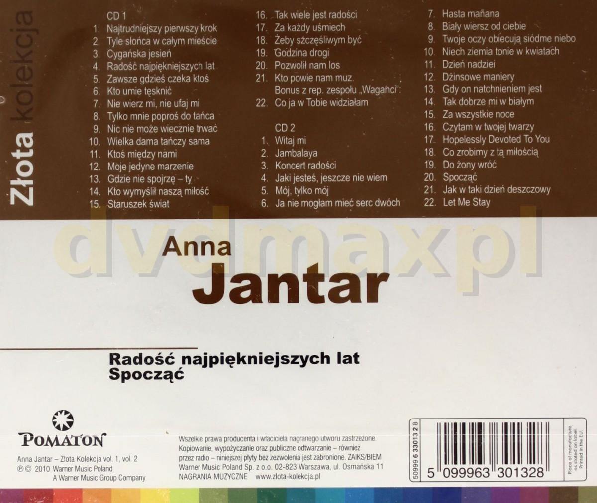 Sklep Punkt44pl Anna Jantar Zlota Kolekcja Vol 1 Vol