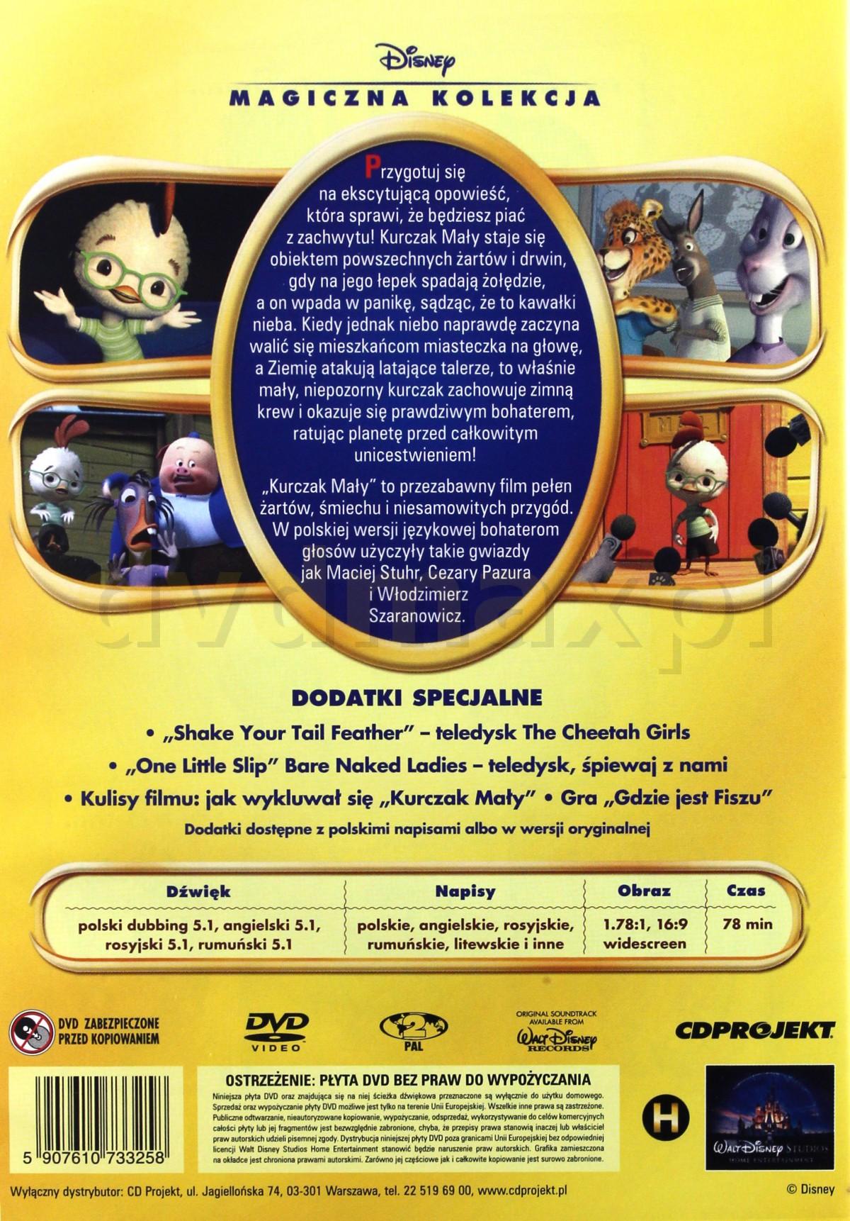Sklep Punkt44 Pl Kurczak Maly Magiczna Kolekcja Disney Dvd